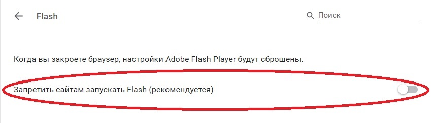 Включить Adobe Flash Player